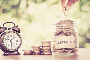 retirement coins in jar