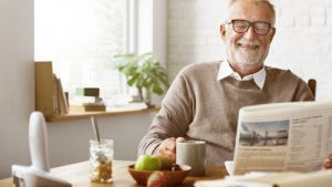 smiling man enjoying retirement