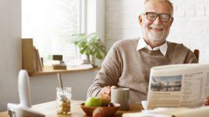 smiling man enjoying retirement